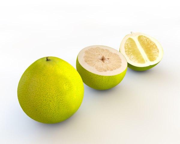 3D model fruit food