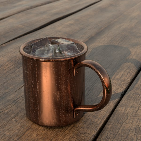 3D cocktail mug ice condensate