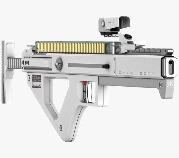 sci-fi gun 3D