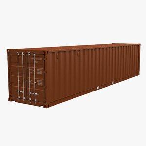 3D model intermodal container 40
