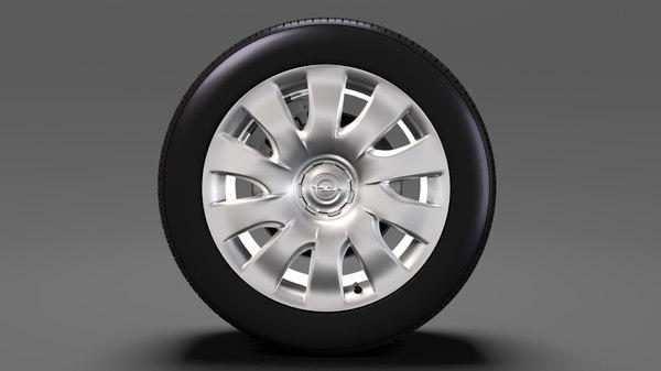3D opel combo wheel 2015 model