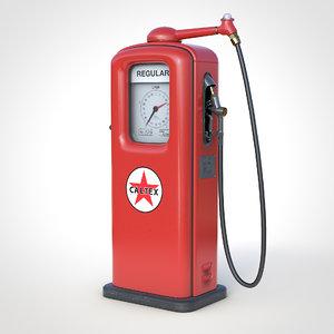 3D model 76 gas pump