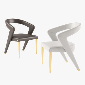 3D bizzotto wave chair model