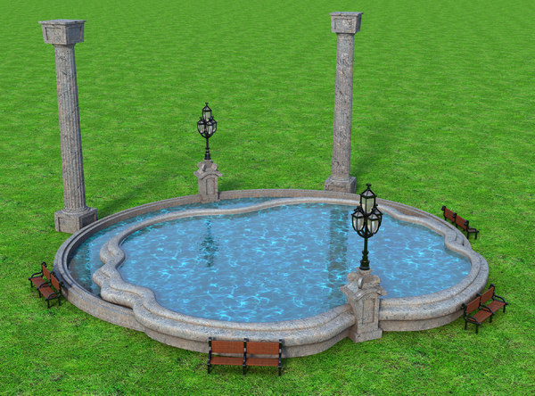 3D model water fountain