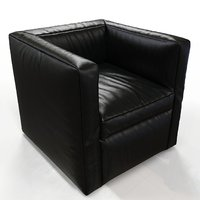 3D model realistic leather
