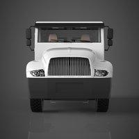 3D model truck materials