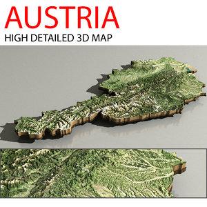 3D relief austria