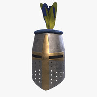 crusader helmet 3D model