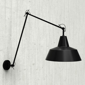 3D model industrial wall lamp romi