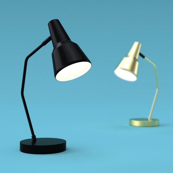 3D industrial table lamp romi model