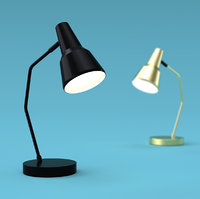 3D industrial table lamp romi model