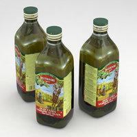 3D model olive vergine olio