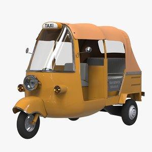 3D tuk taxi model