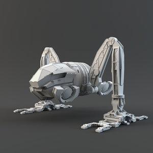 moon tug 3D model