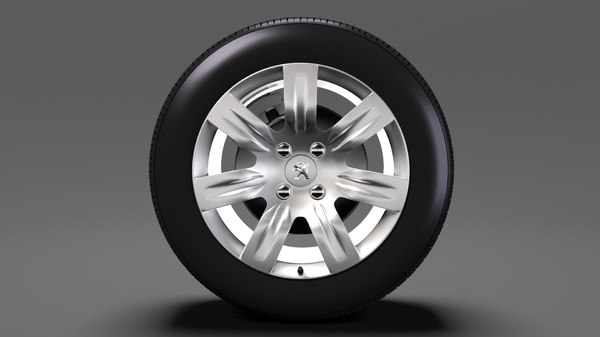 peugeot partner tepee wheel 3D model