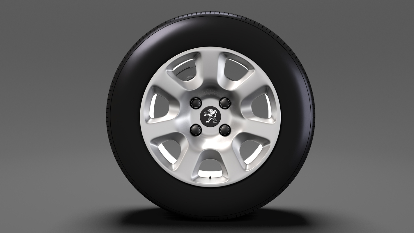 peugeot partner van wheel 3D model