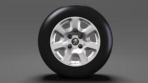 peugeot partner van wheel 3D model