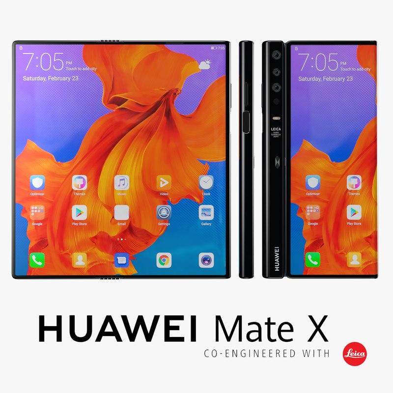 huawei mate x 3D model