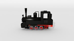 3D model old steam locomotive