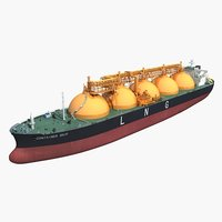 3D lng carrier ship model