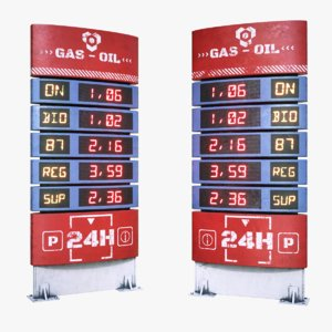 fuel price display 3D