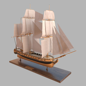 3D ship katrin sail model