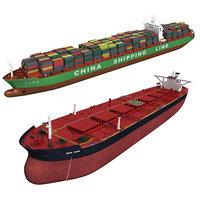 3D model cargo ships