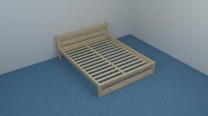 bed frame 3D
