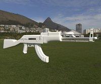 blender rifle 3D model