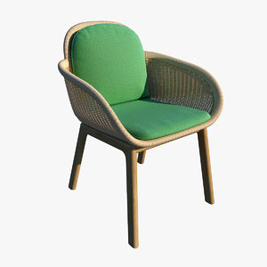 cords chair vimini 3D model