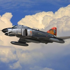 3D turkish f-4e terminator flight