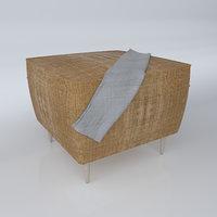 3D model simple pouf