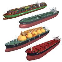 3D cargo ships
