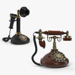 3D rotary phones