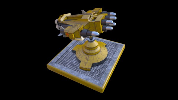 rocket launcher turret 3D model