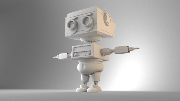 radio robot rigged 3D model