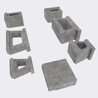 Concrete (Allan) Landscaping Blocks