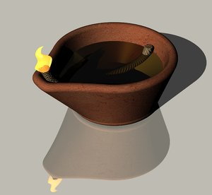 diwali oil lamp model