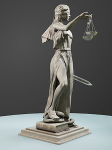 lady justice 2019 3D model