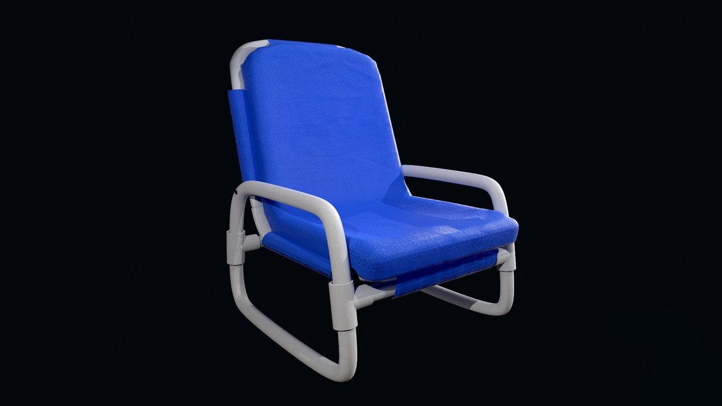 plastic chair 3D