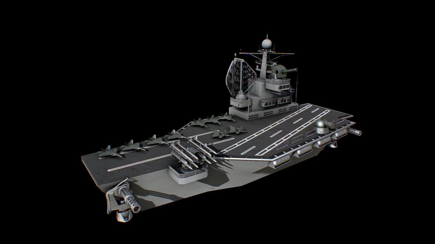 aircraft carrier battleship 3D model