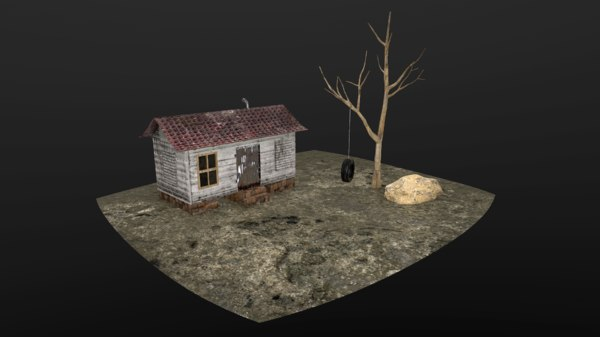 creepy hut 3D model