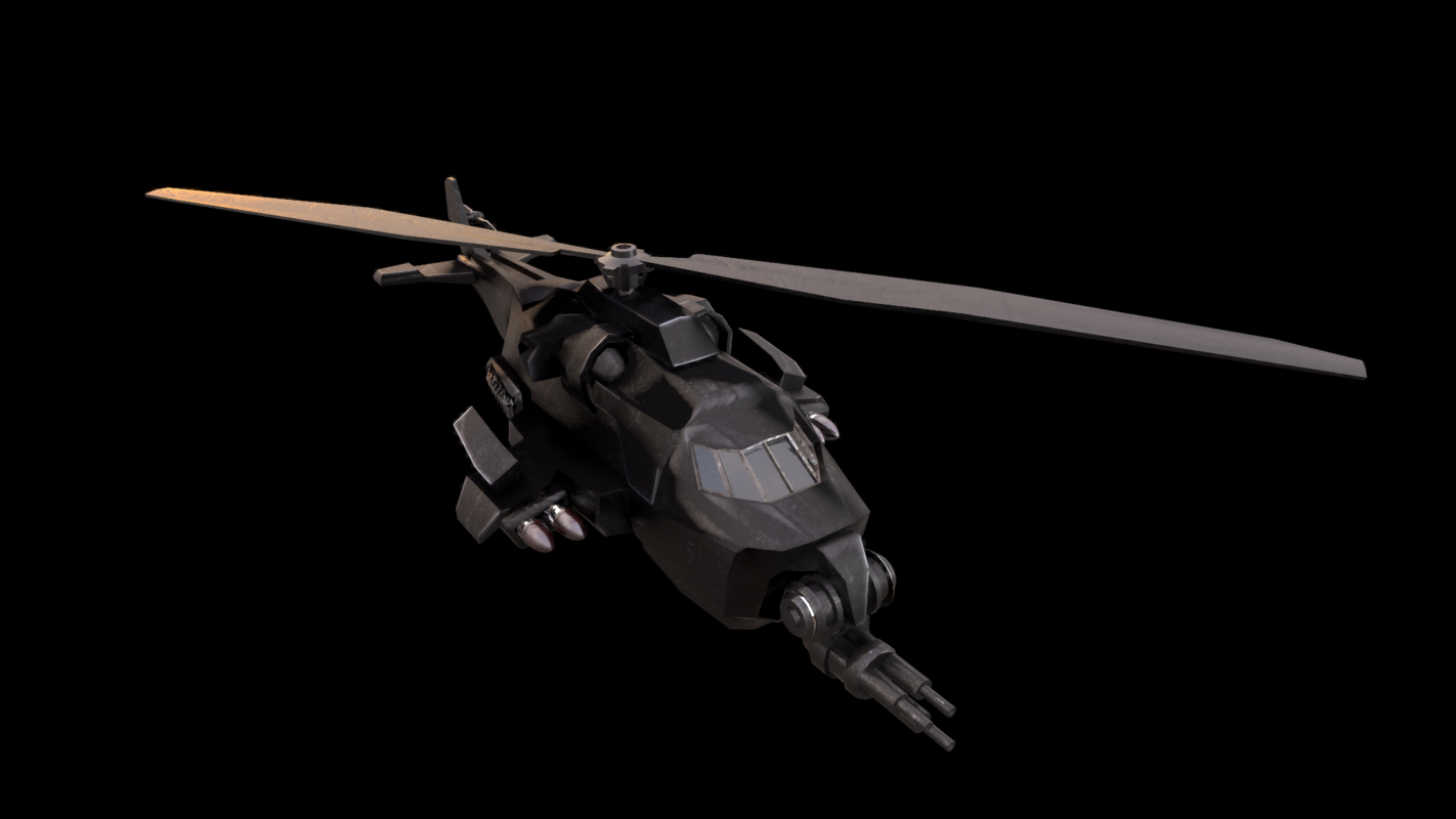 3D helicopter ready