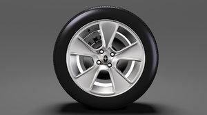 3D renault sandero wheel 2016