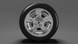 renault logan wheel 2017 3D