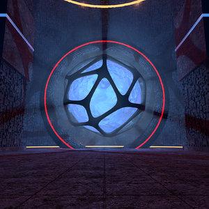 3D concepts science fiction temple