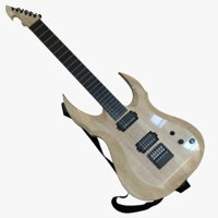 3D electric strat-style guitar