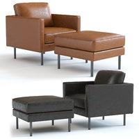 3D elm axel leather armchair