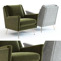 elm carlo mid-century chair 3D model
