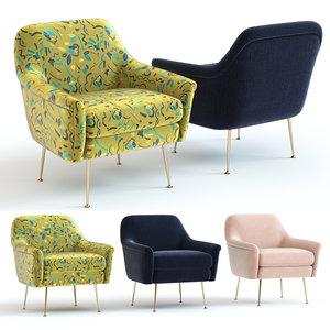 elm phoebe chair - 3D model